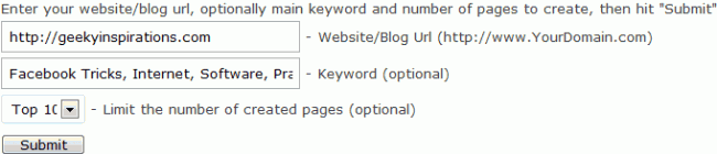 Backlinks with IMT Website Submitter