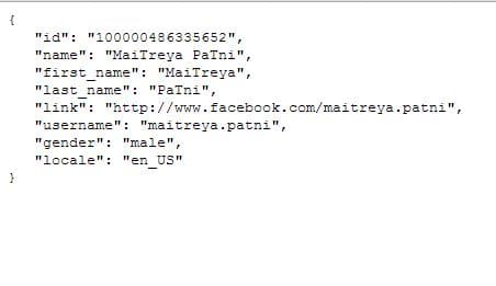 Facebook User Information With Graph