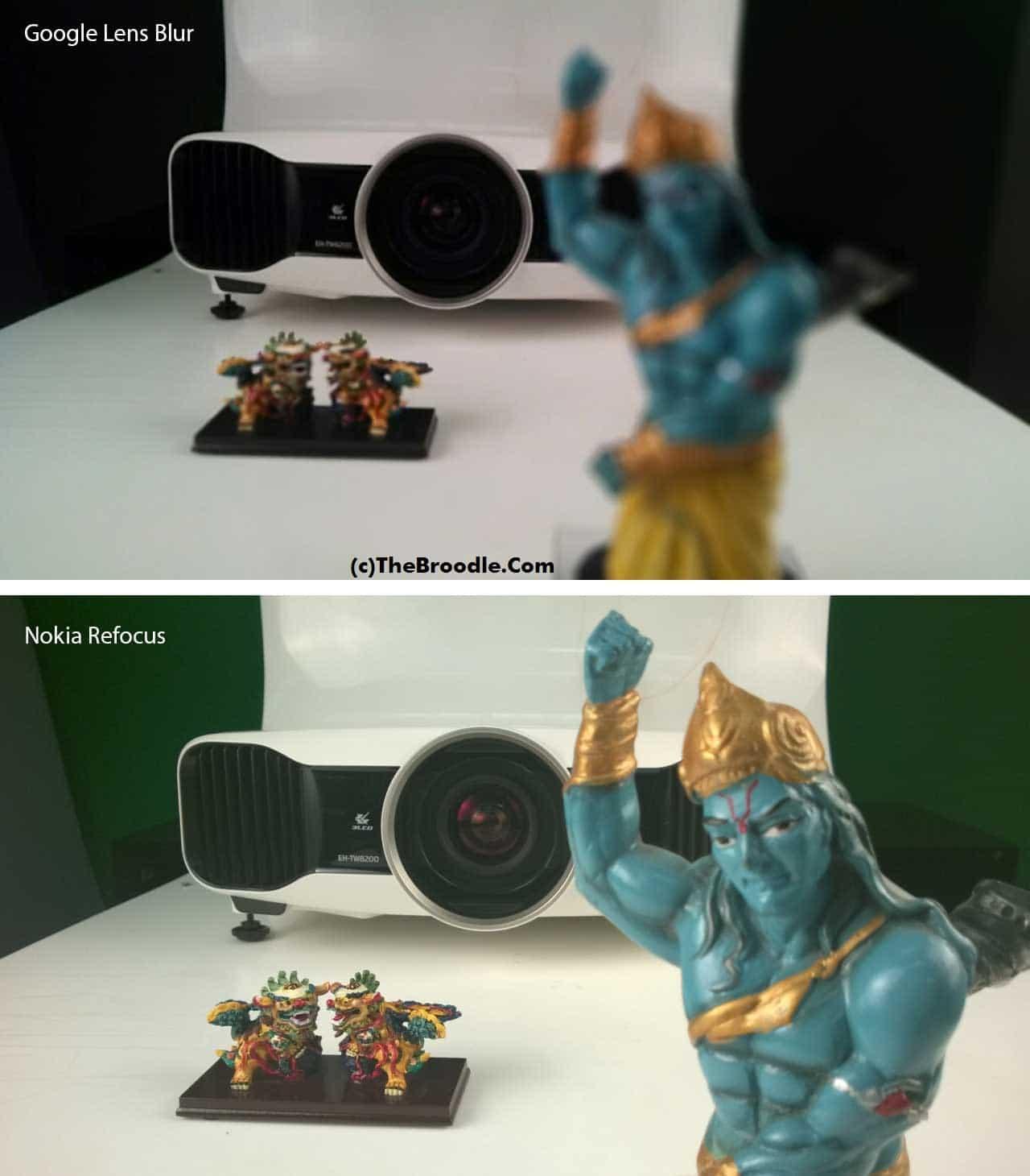 Google Lens Blur and Nokia Refocus