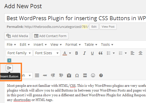Best WordPress Plugin for inserting CSS Buttons in WP Posts