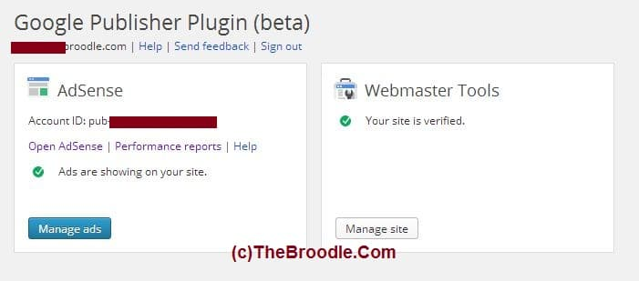 Google Publisher Plugin Dashboard