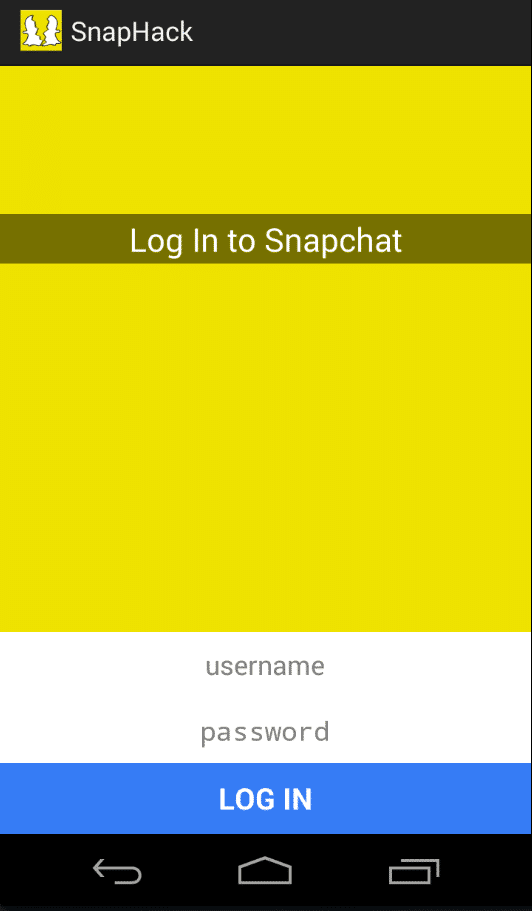 Login to SnapChat with SnapHack