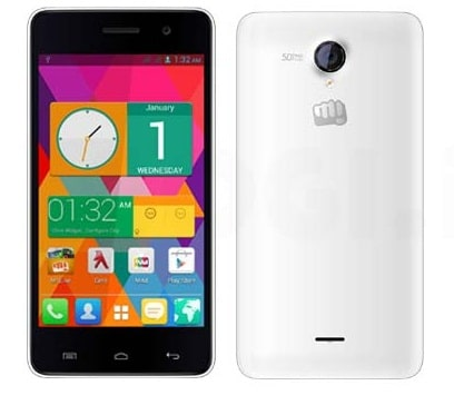 Micromax A106 Android 4.4 KitKat Device