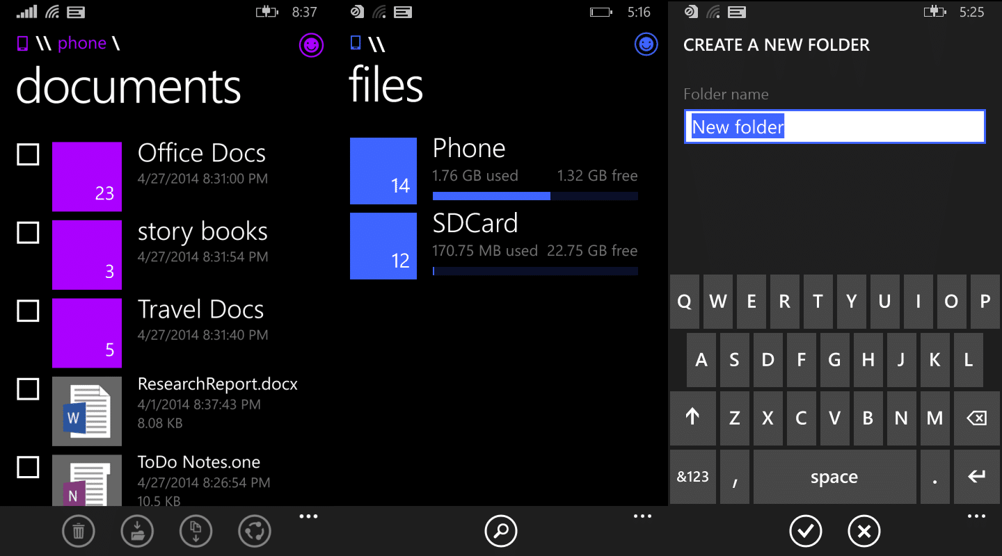 Official File Manager for Windows Phone 8.1