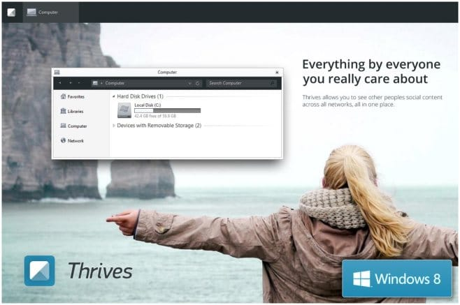 Thrives Theme for Windows 8 and 8.1