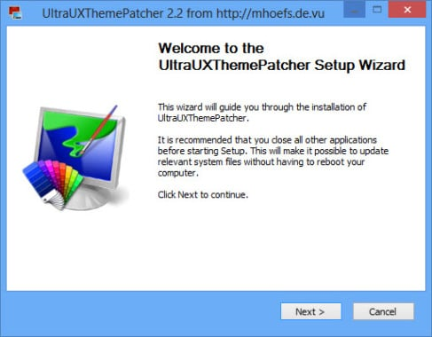 UltraUXThemePatcher for Windows 8 and 8.1
