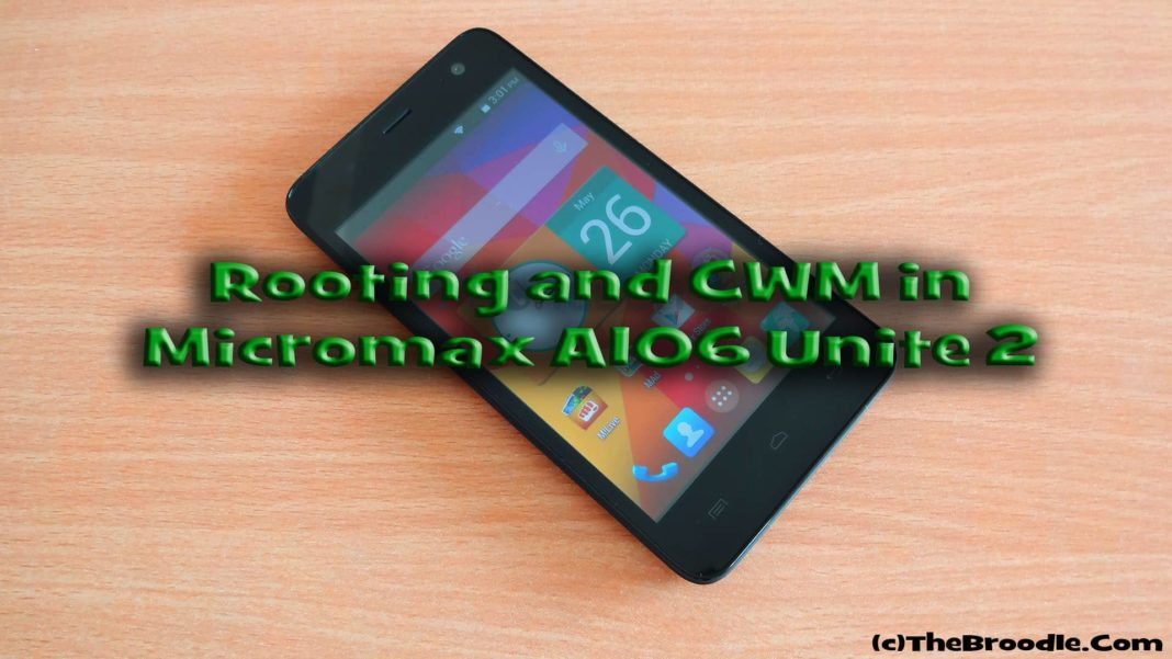Micromax A106 Unite 2 Root and Install CWM Recovery