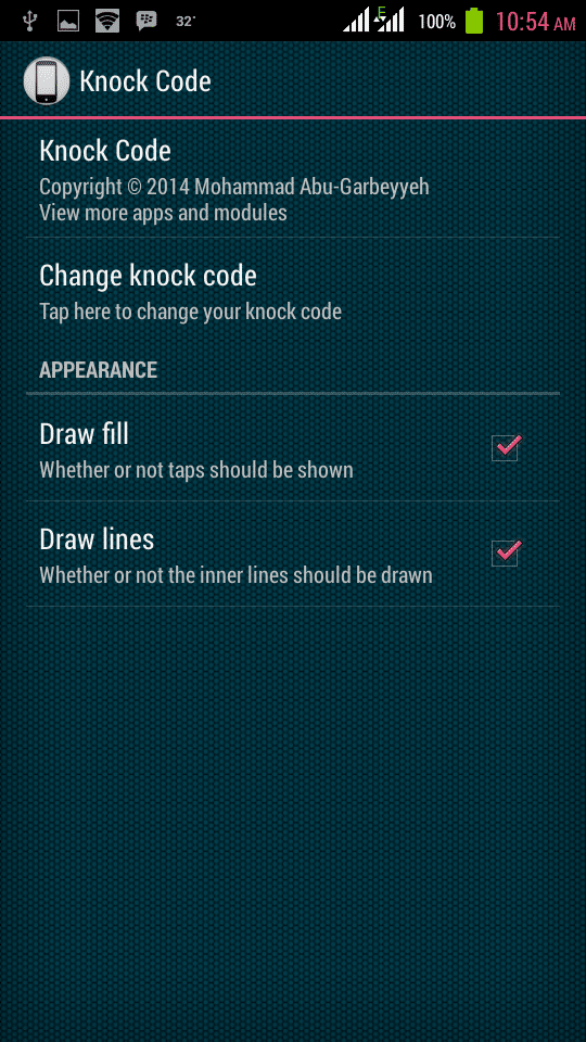 Set a Knock Code Pattern