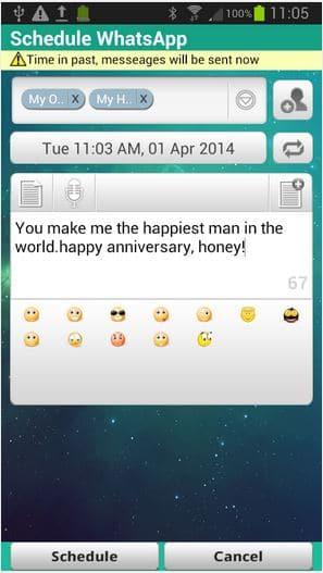 WhatsApp Messages Scheduler