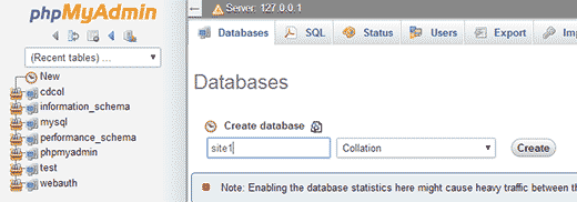 Creating a Database with PHPMyAdmin