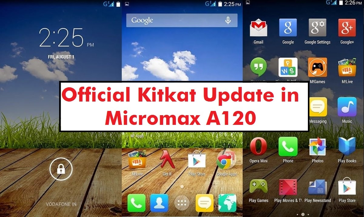 Update Micromax A120 with Android 4 4 2 Kitkat Canvas 2 Colours