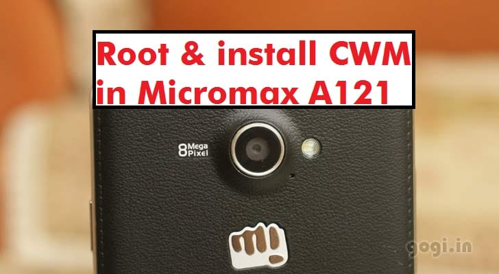Root and Install TWRP Recovery in Micromax A121 Canvas Elanza 2