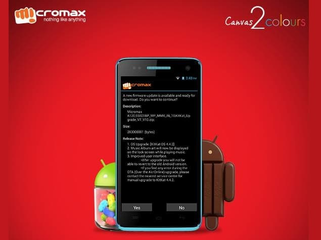 How to Update Micromax A120 Canvas 2 Colours to Kitkat Android 4 4 2