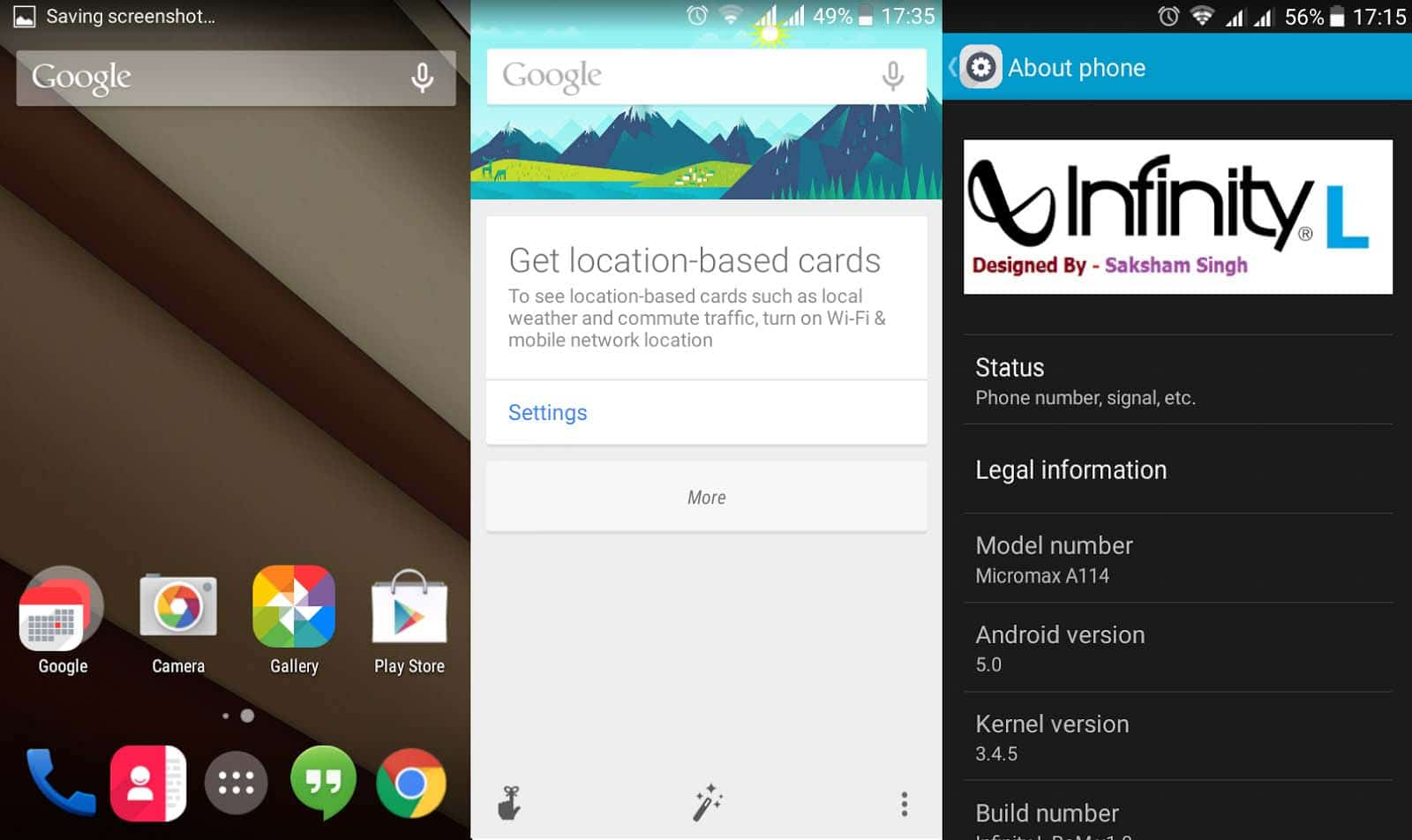 Android L 5.0 ROM For For Micromax Canvas 2.2 A114