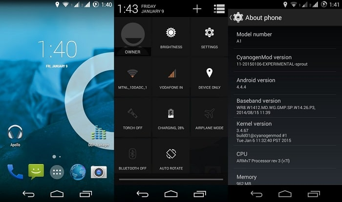 Download Official CM11 ROM For Android One (Micromax A1