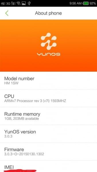 Yun OS 3.0.3 Stable Kitkat Rom For Xiaomi Redmi 1S 5