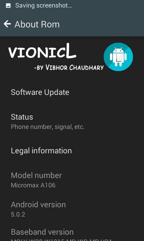VionicL Lollipop 5.0 Rom for Micromax A106 Unite 2 6