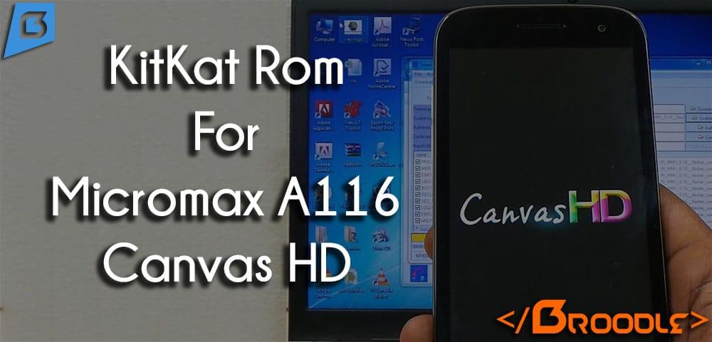 micromax canvas hd a116 rom