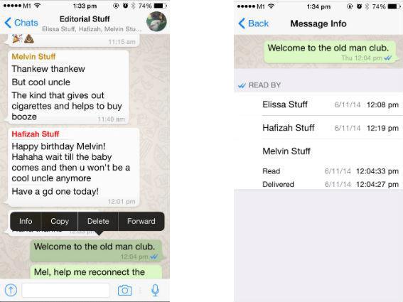 whatsapp read status