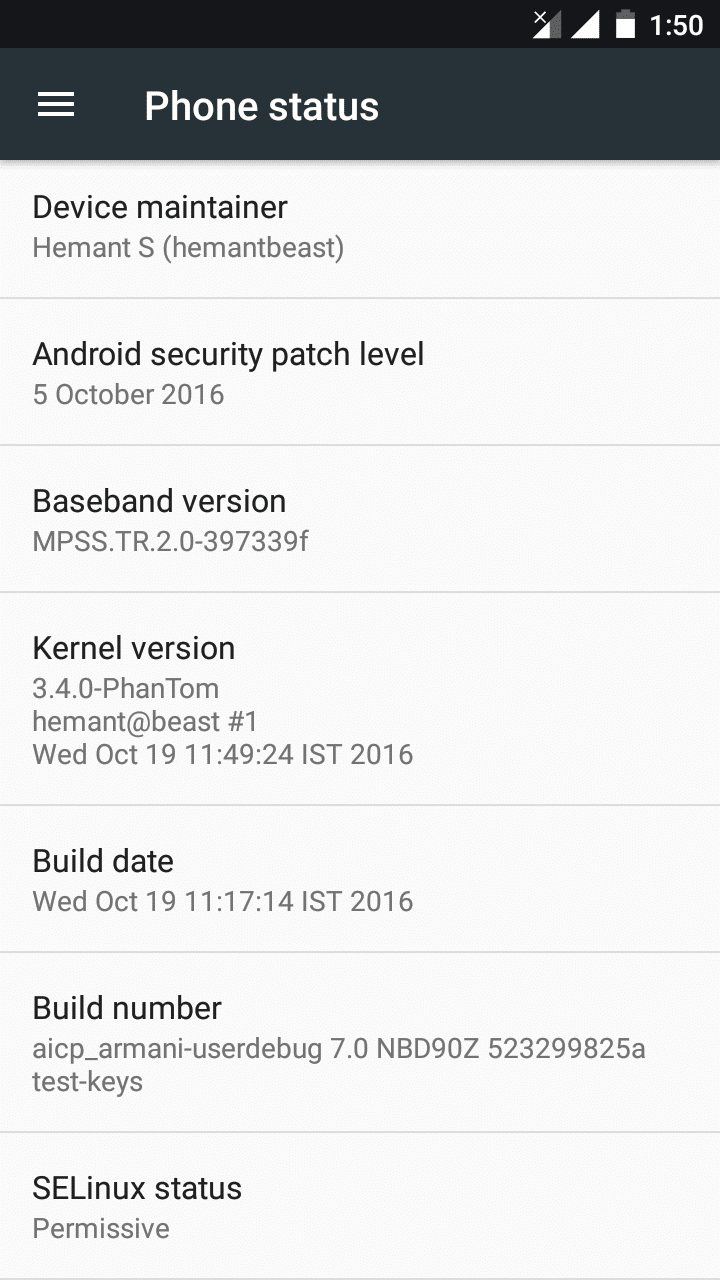 Official AICP Android 7.1 Nougat ROM for Xiaomi Redmi 1S (Armani) 4