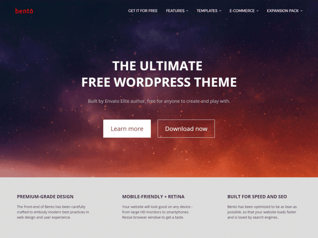 Bento Free WordPress Theme
