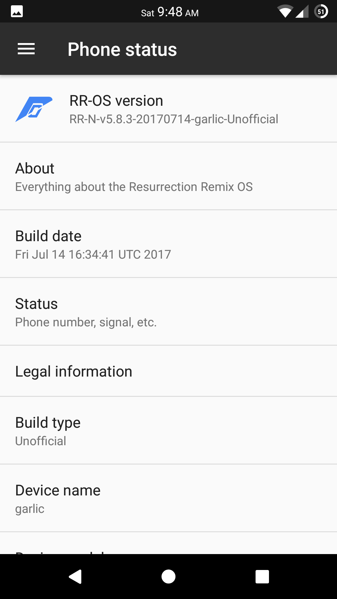Official Resurrection Remix for Yu Yureka Black (Android 7.1.2 Nougat ROM) 5