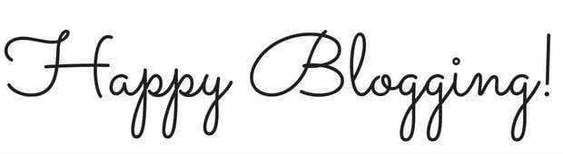 Happy Blogging!