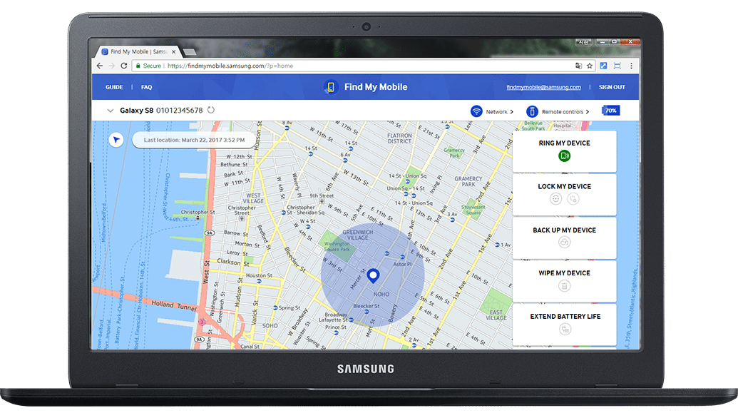 Samsung Find My Mobile For Tracking Lost Device