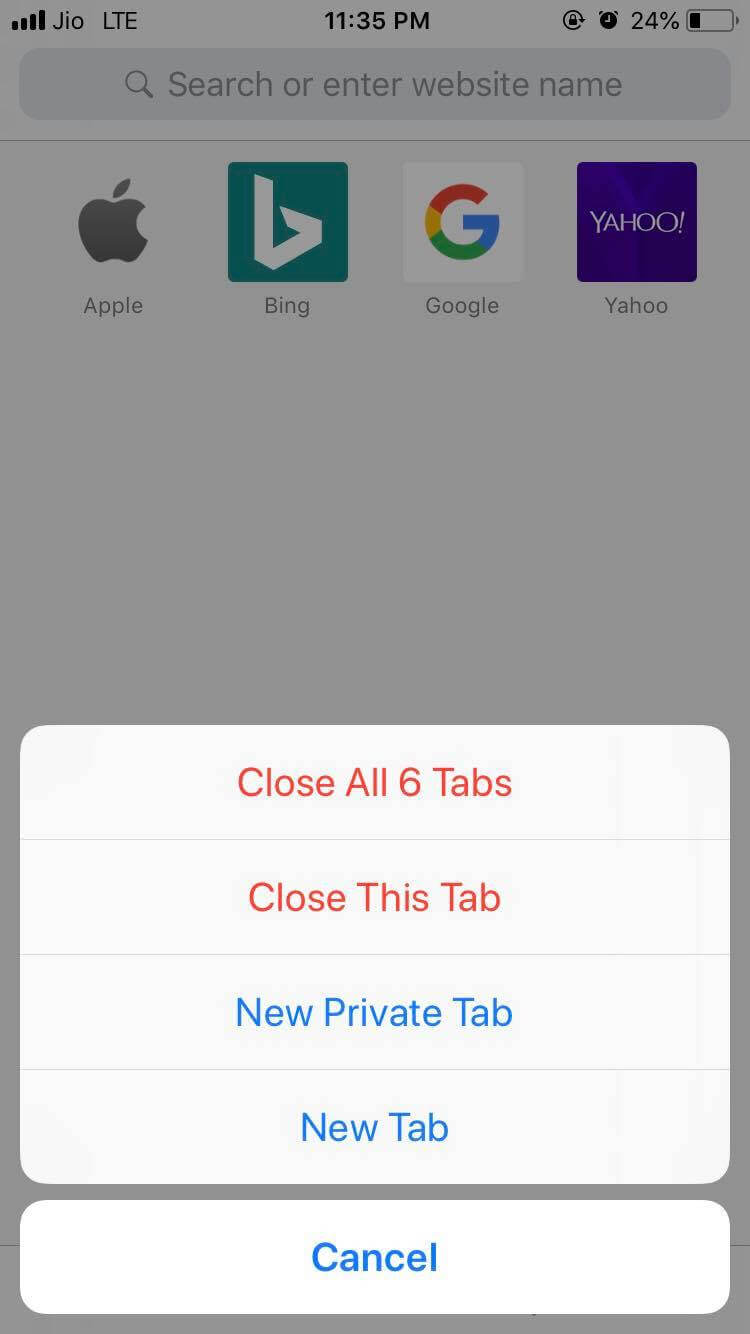 Close All Tabs
