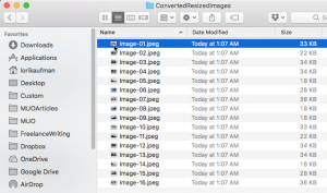 How to Resize Bulk Images at a Time in a Mac -4