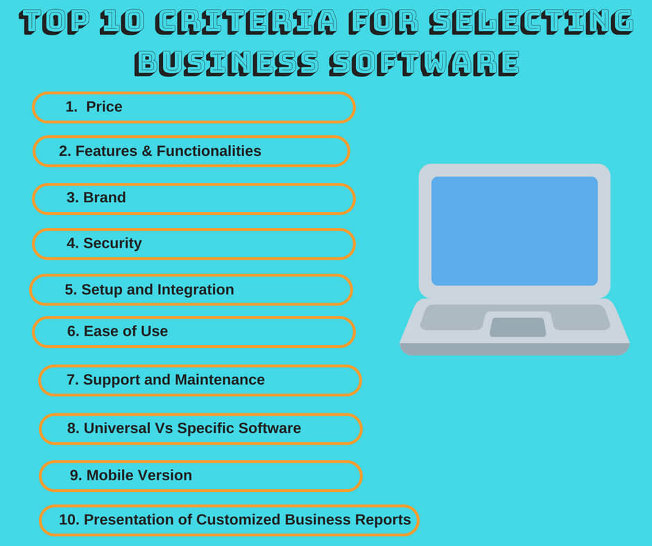 Business Software, Top 10 Criteria for Selecting the Best Business Software