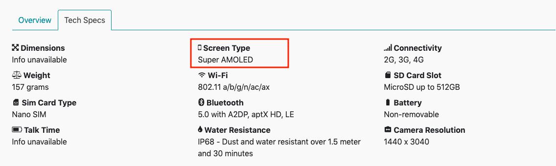 Samsung S10 Specs