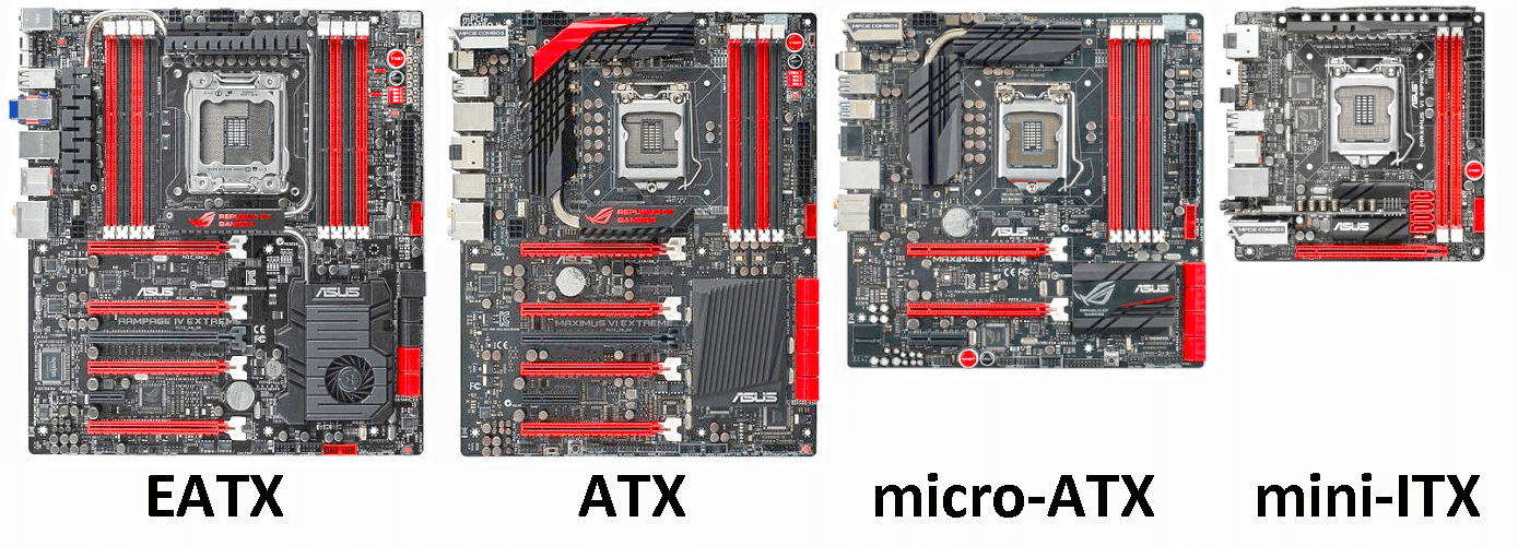 size of motherboards