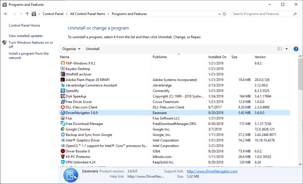 Uninstall Unneeded Programs and Software