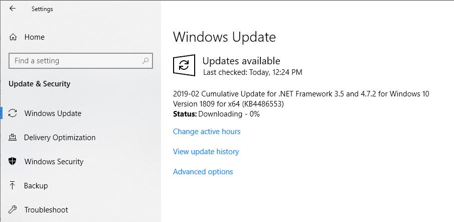 Windows 10 Updated