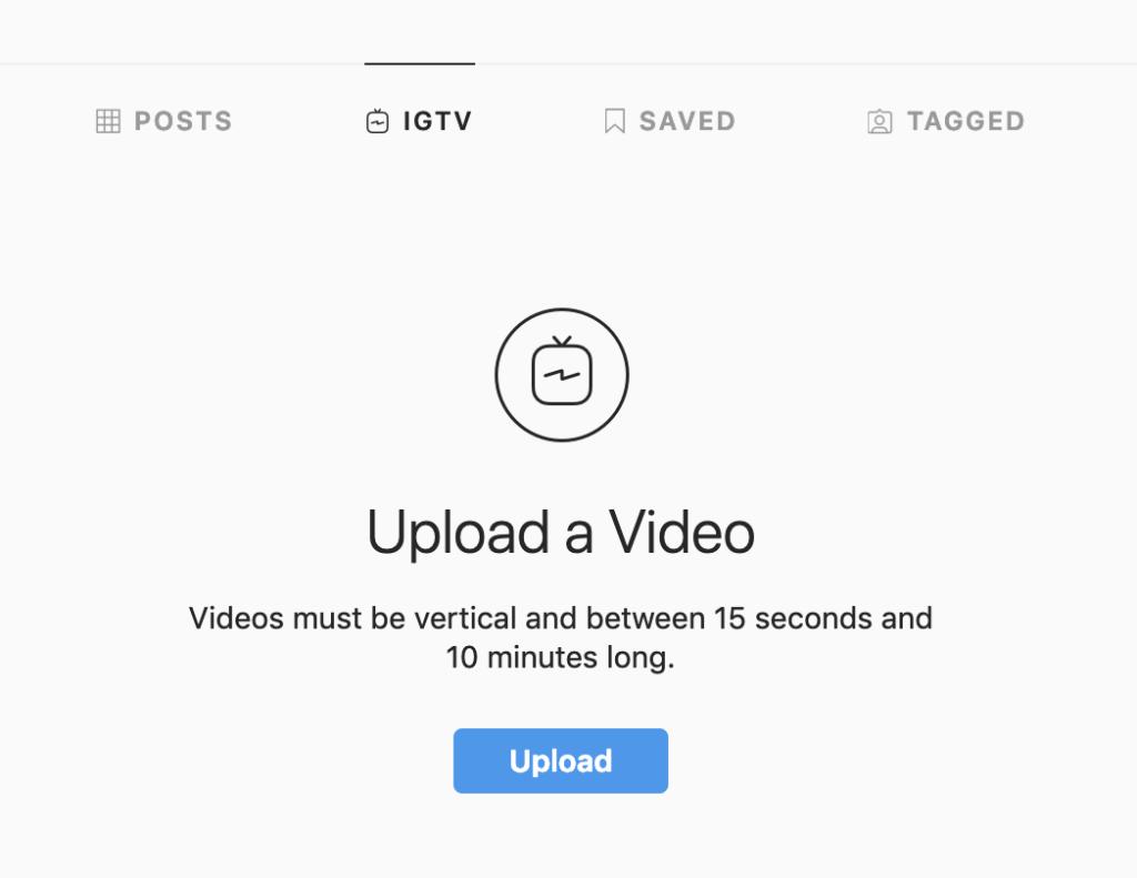 Upload on IGTV